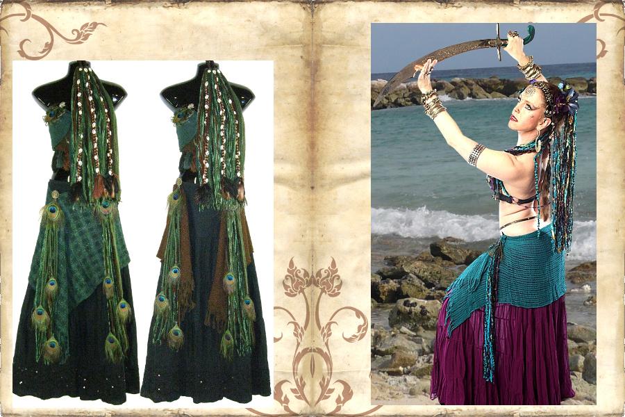 Tribal Fusion Kostüm Kombis Bauchtanz Sets