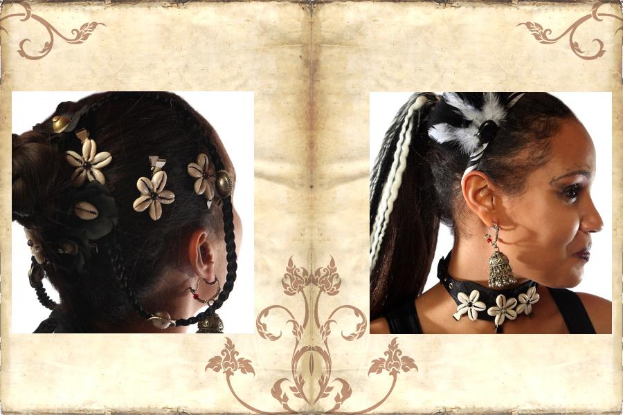 Kauri Haarschmuck und Blumen Clips