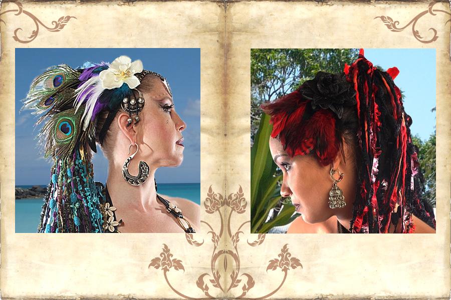 Feder Fascinators und Headpieces in Deinen Köstümfarben