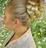 Chignon & Pfauenfeder Haarteil Set