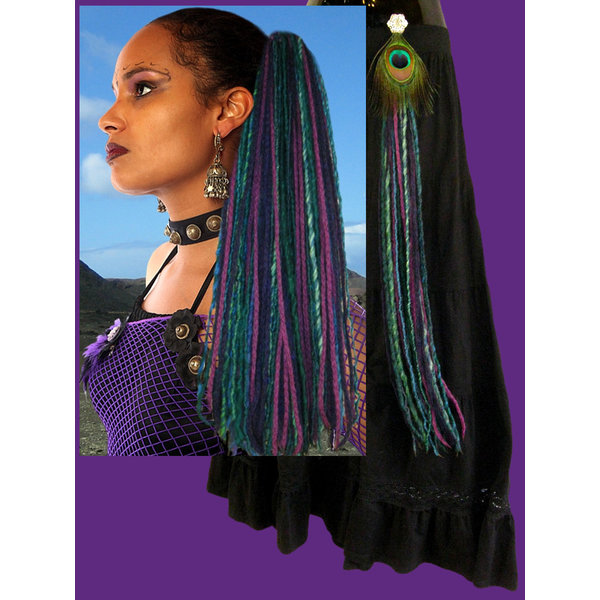 Purple Paradise Dreads & 2 Gürtelclips