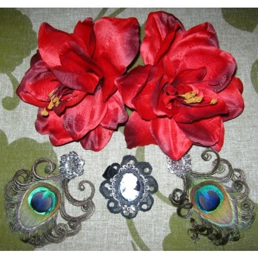 Gothic Belly Dance Hair Jewelry Set