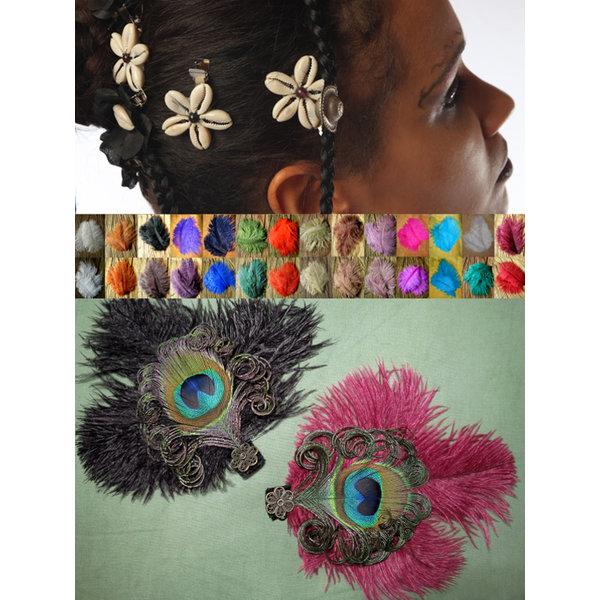 Tribal Fusion Feder & Kauri Haarschmuck Set