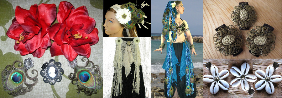 10 Tribal Fusion Costume & Hair Jewelry Sets with € 10-20 OFF