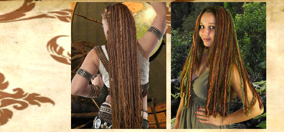 Dreadlocks, Clip-In Dreads & Tribal Fusion Haarteile