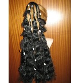 Gipsy Magician Hair Falls L feathers & cowries