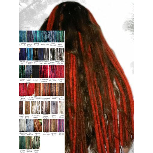 Clip-In Dreadlocks mit Farbwahl