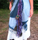 Purple Passion Gold Peacock tassel clip