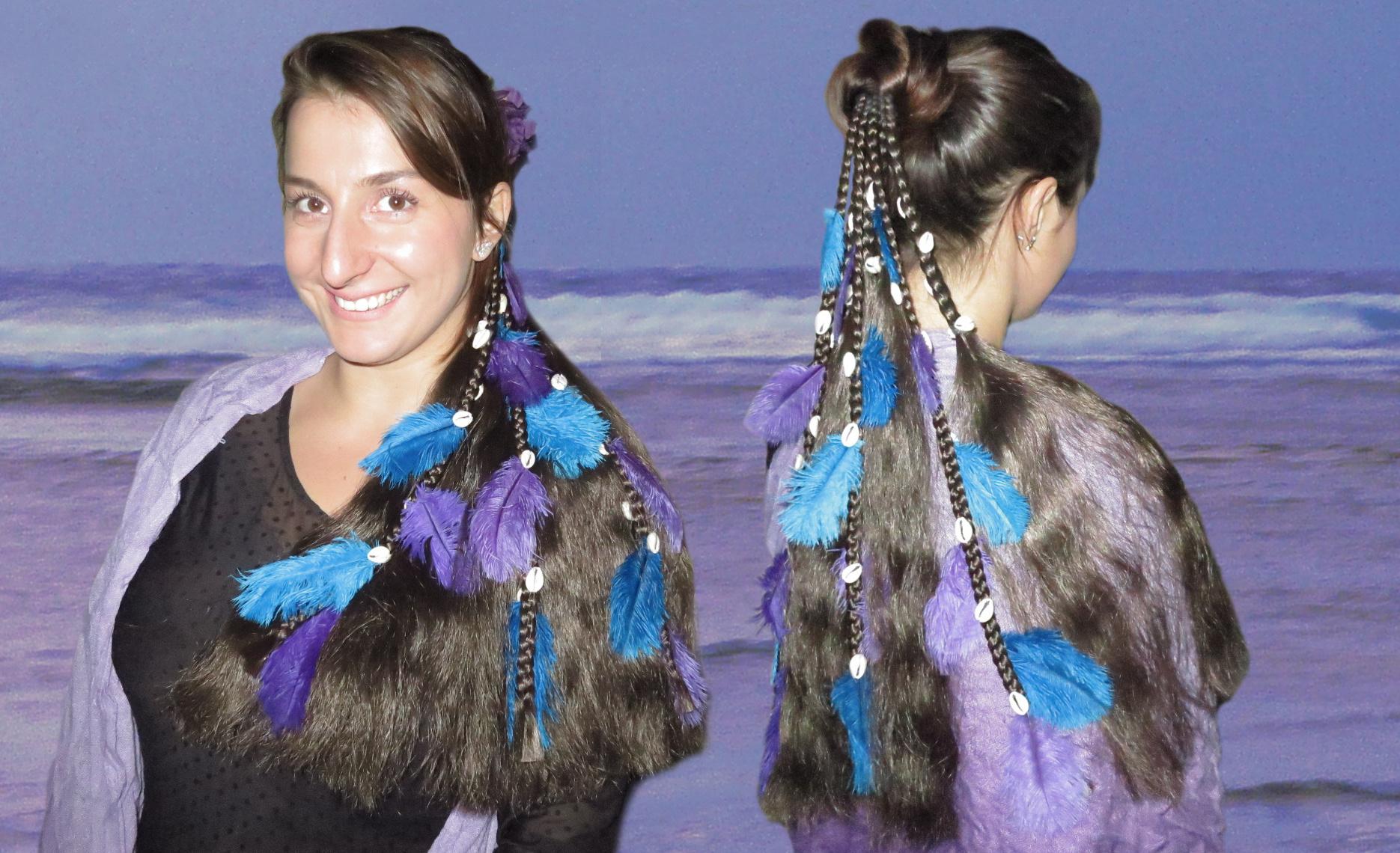 Fantasy Magician Hair Falls Mermaid Style
