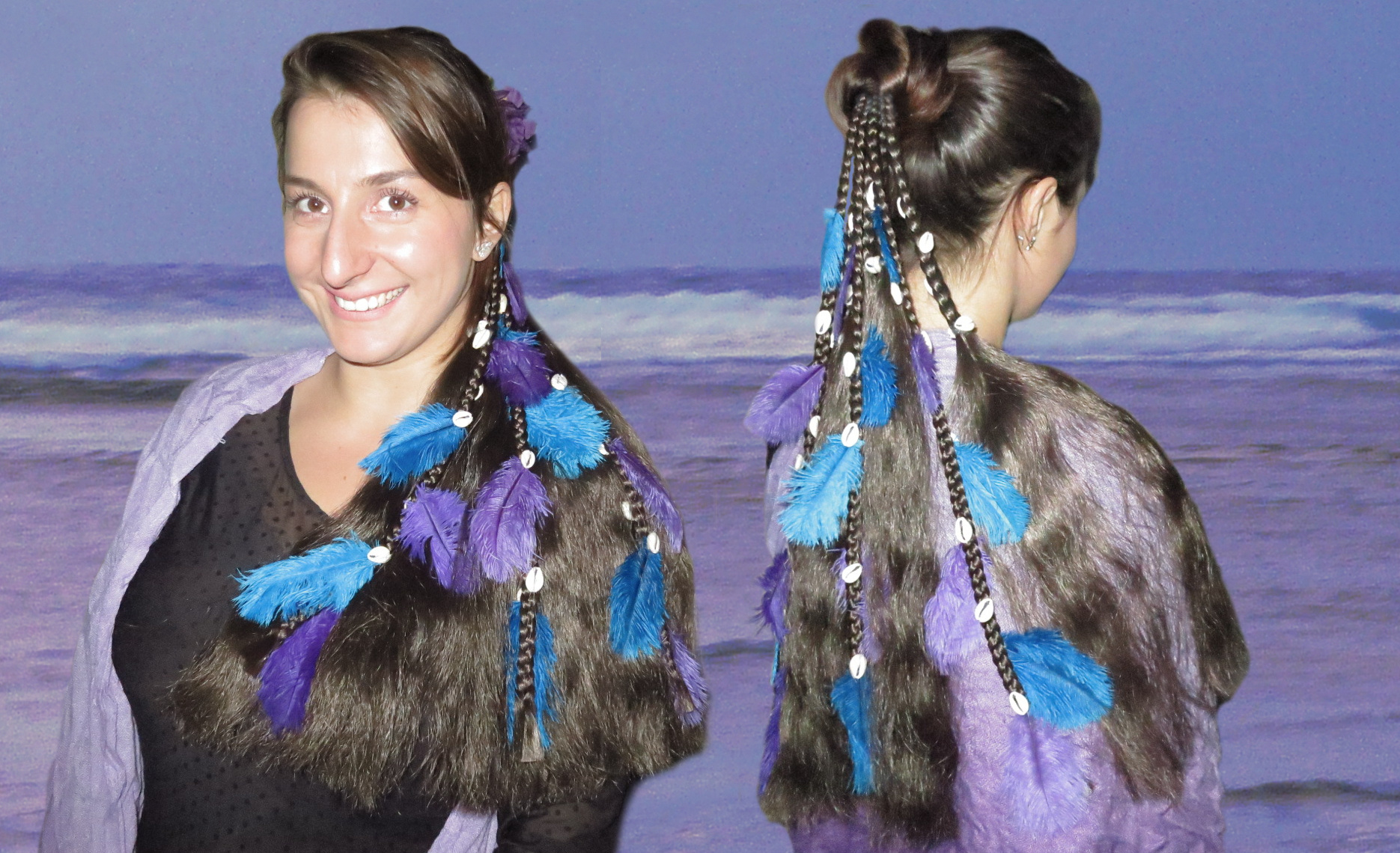 Fantasy Magierin Haarteil im Meerjungfrau Look