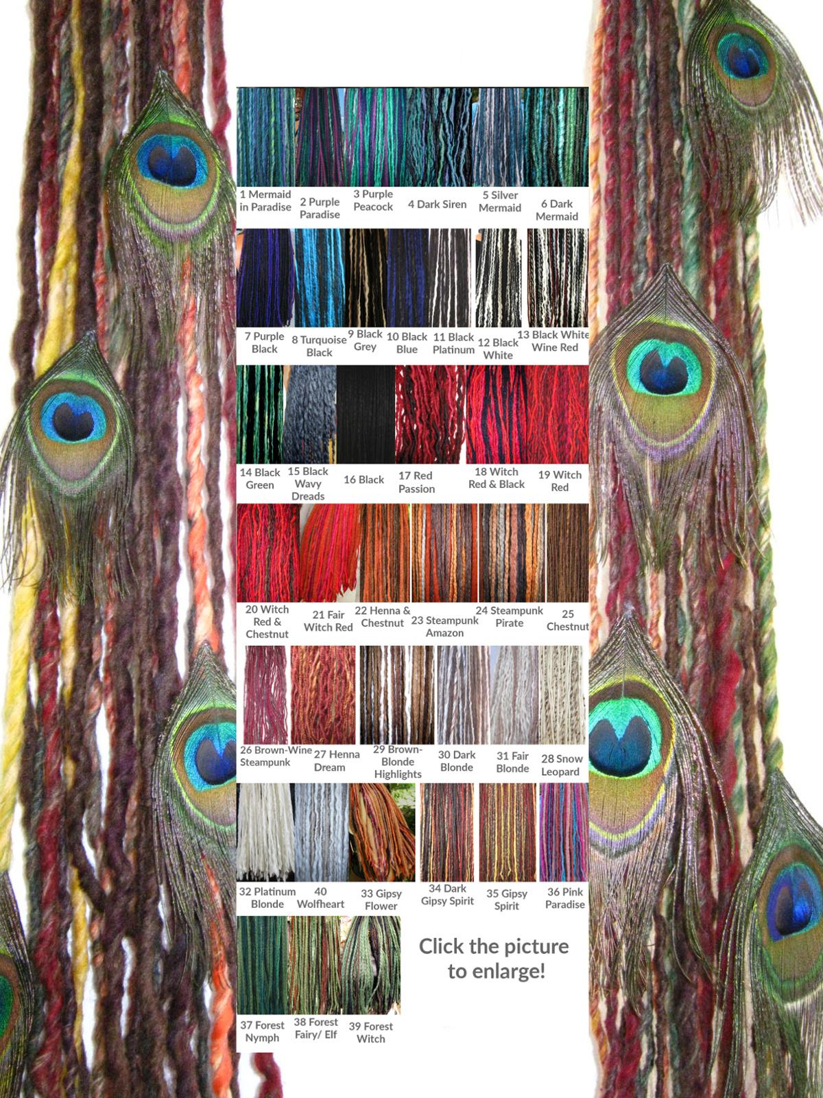 Dreadlocks Clip Ins With Peacock Feathers Magic Tribal Hair Magic Tribal Hair Schlegel Str 30 50935 Cologne Germany