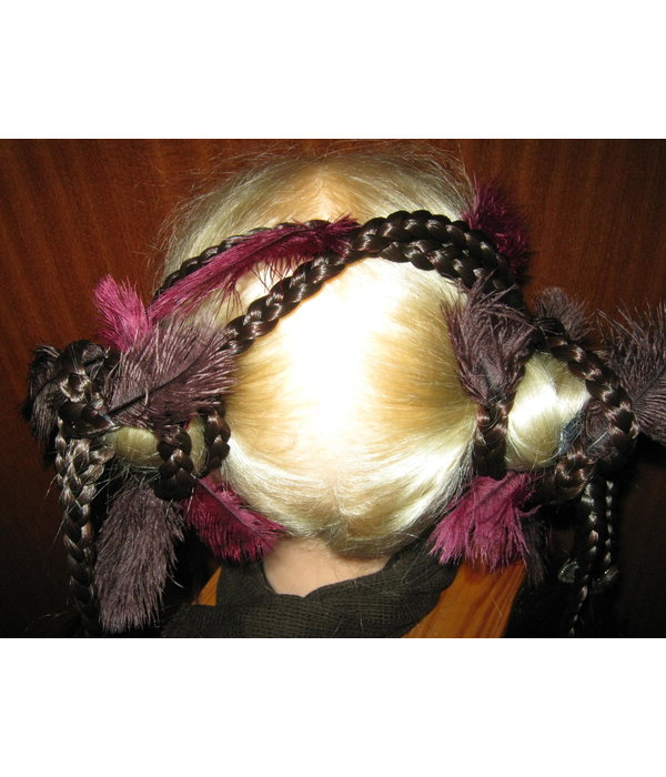 2 x Hair Falls Gothic Witch Magician, M