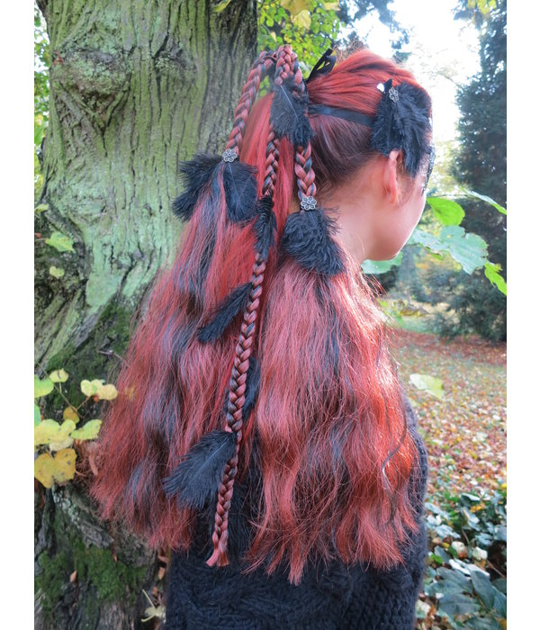 Feather Headpiece Hair Falls Magician, M