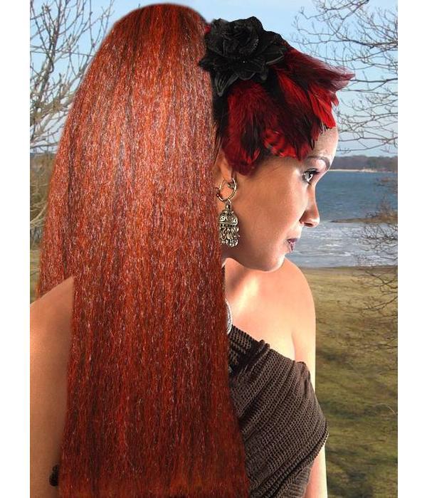 Hair piece crimped hair custom color hair