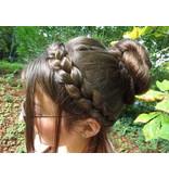 Messy Zopf Haarband, medium