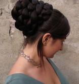 Prinzessin Leia Dutt mit Zopf Zeremoniefrisur