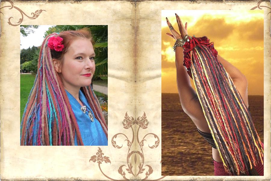 Dreadlocks mit Haarblumen