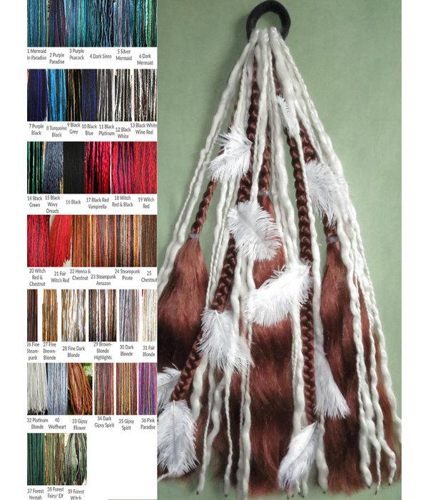 Dreadlocks für Magierin Haarteil - Wähle Deinen Farbmix!
