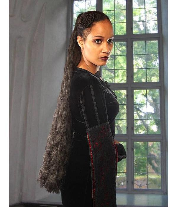 Goth Hair Falls size M extra, wavy hair
