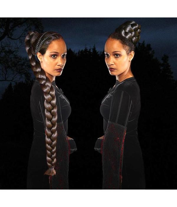 Gothic & Fantasy Haarteil, M extra, leicht gekreppt