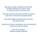 2 Hair Falls size S Plus extra, waves