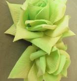 Rose hair clip fair green 2 x