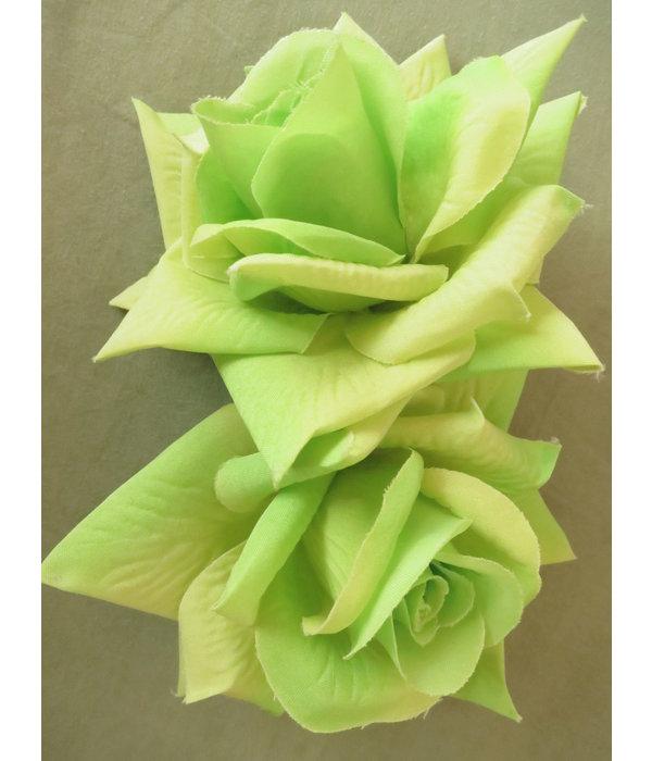 Rose Haarblume hellgrün 2 x