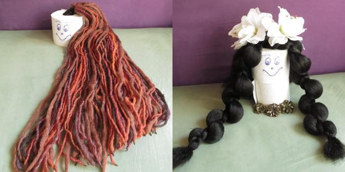 Cloey das neue Klopapier-Model mit Dreadlocks und Tribal Fusion Frisur