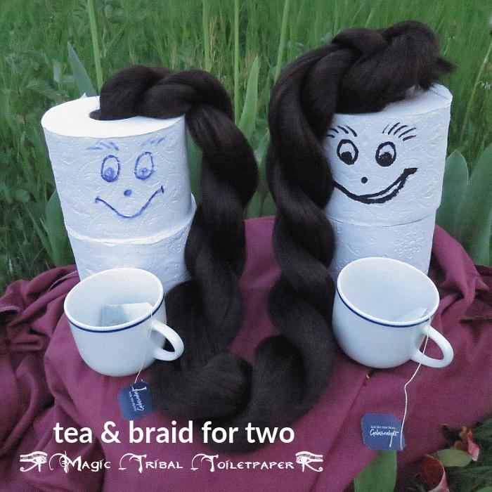 Tee und Zopf für zwei - Magic Tribal Klopapier Aktion