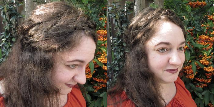 Melanie messy Rapunzel headband