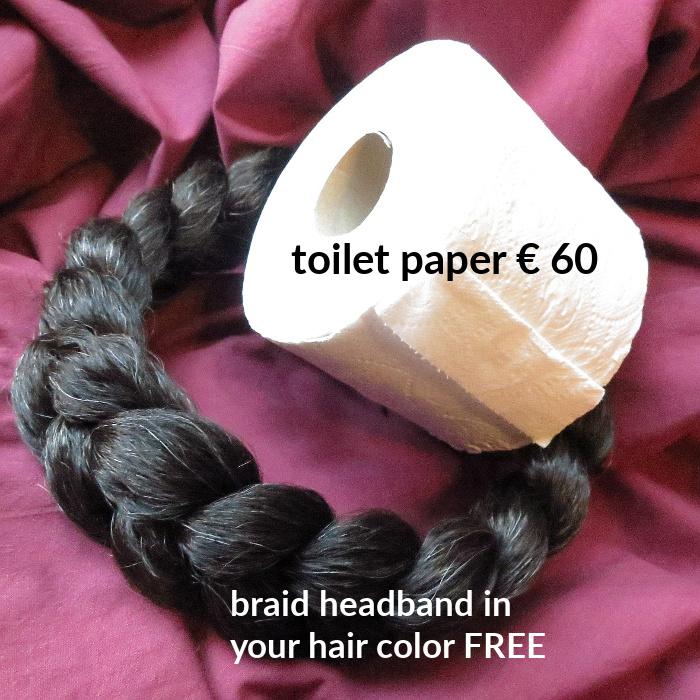 toilet paper headband advertisement