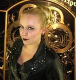XL Fantasy Zopf Spezial, schwarz-lila