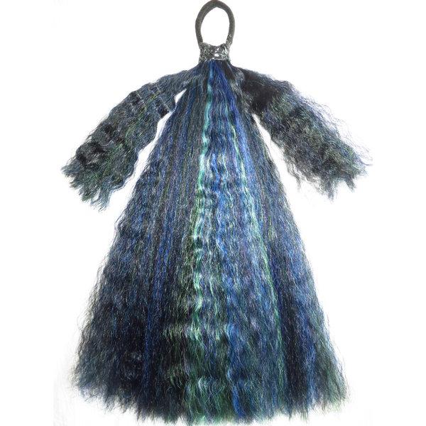 Gothic Haarteil Black Peacock M wild style