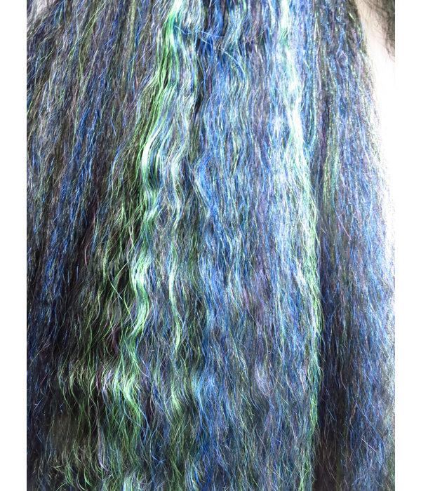 Goth Hair Fall Black Peacock M wild style