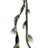 Peacock Extensions, 9 Feathers  - color 1 black