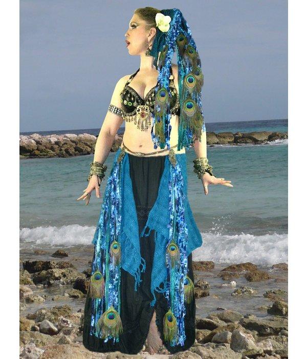 Gürtel- & Haarclip Blue Mermaid (Pfau)
