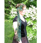 Gürtel- & Haarclip Smaragdfee (Pfau)