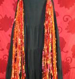 Belly Dance Belt & Hair Bohemian Bonfire (Peacock)