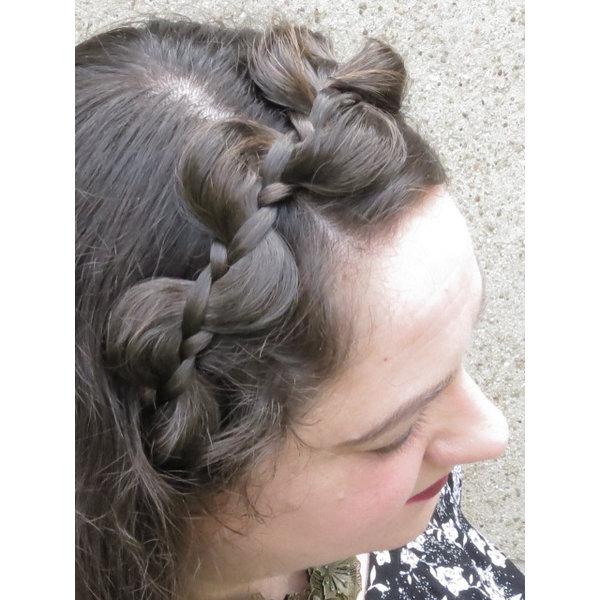 Messy Zopf Haarband Elfe, medium