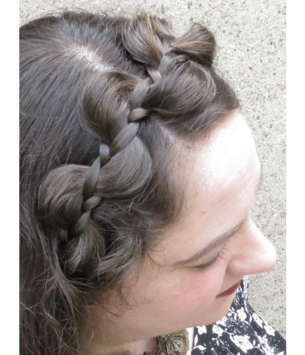 Messy Zopf Haarband Elfe, flach