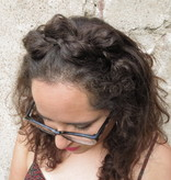 Messy Butterfly Braid Headband, thick & fluffy