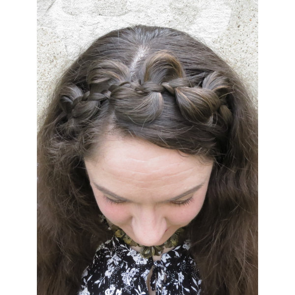 Messy Butterfly Braid Headband, flat