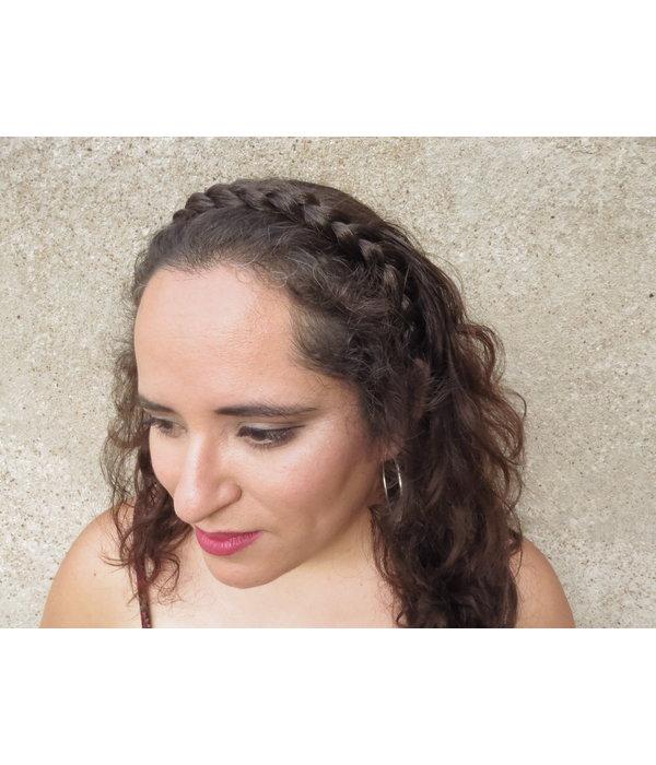 Messy Zopf Haarband, flach & schmal