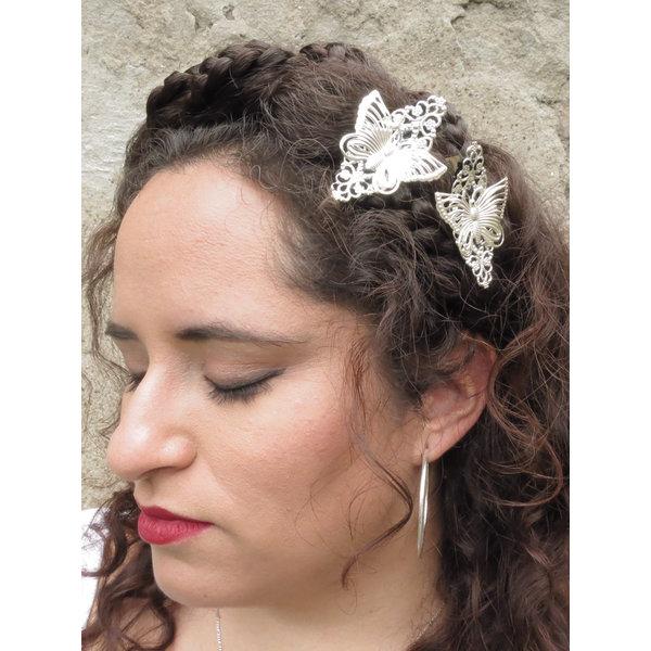 Haarschmuck Schmetterling, silber