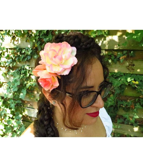 Haarblüten Boho Rosen apricot altrose