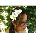 Orchideen Haarblüten 2 x elfenbeinfarben