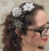 Filigree Silver Hair Flowers, 2-6 pcs