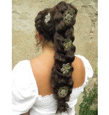 Filigrane Haarblumen, silber, 2-6 Stk.