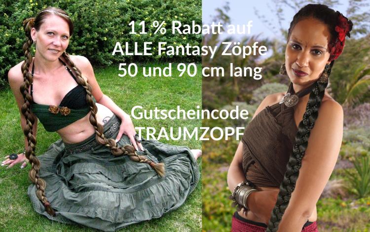 11 % Rabatt auf Fantasy Zöpfe - alle Längen