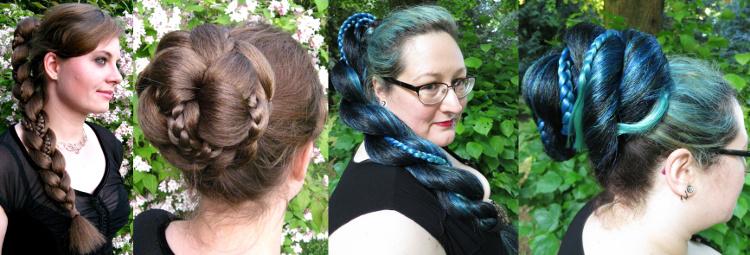 Fantasy Zöpfe aus gekrepptem Haar - 4 Frisurenvarianten